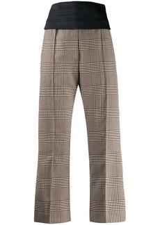 Maison Margiela check print culottes