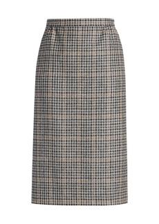 Maison Margiela Check Wool Pencil Skirt