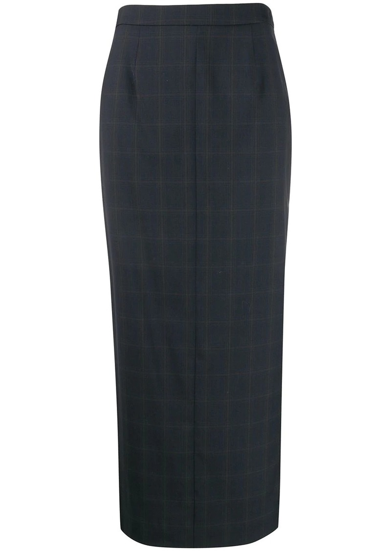 Maison Margiela checked long pencil skirt