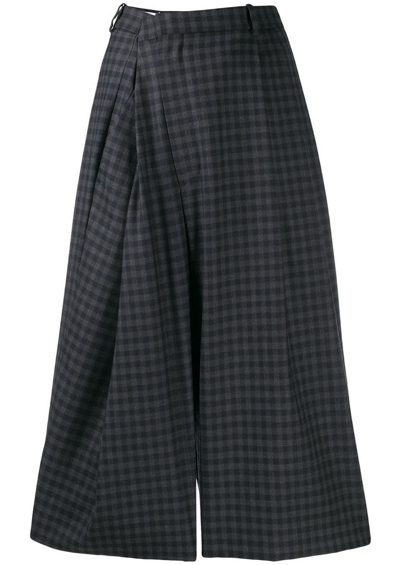 Maison Margiela checked wrap style trousers