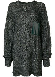 Maison Margiela chunky knit oversized sweater with pocket detail