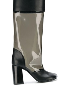 Maison Margiela clear panel boots