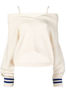 Maison Margiela cold shoulder elongated sleeve sweater