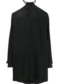 Maison Margiela cold shoulder oversized shirt