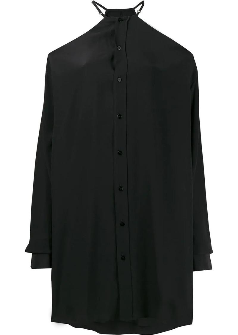 Maison Margiela cold shoulder oversized shirt