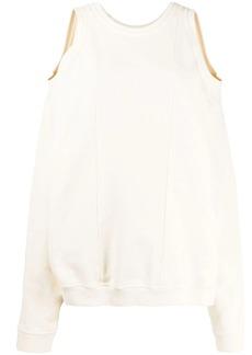 Maison Margiela cold-shoulder sweatshirt