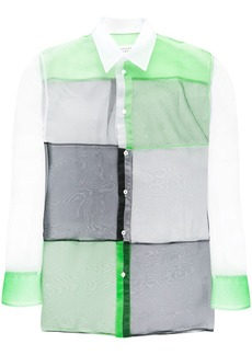 Maison Margiela colour-block sheer shirt