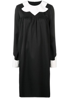 Maison Margiela contrast collar dress