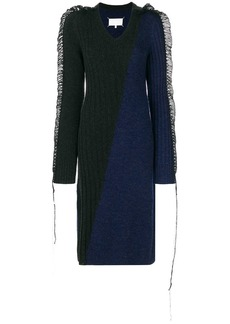Maison Margiela contrast knitted midi dress