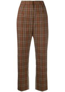 Maison Margiela contrast panel check trousers