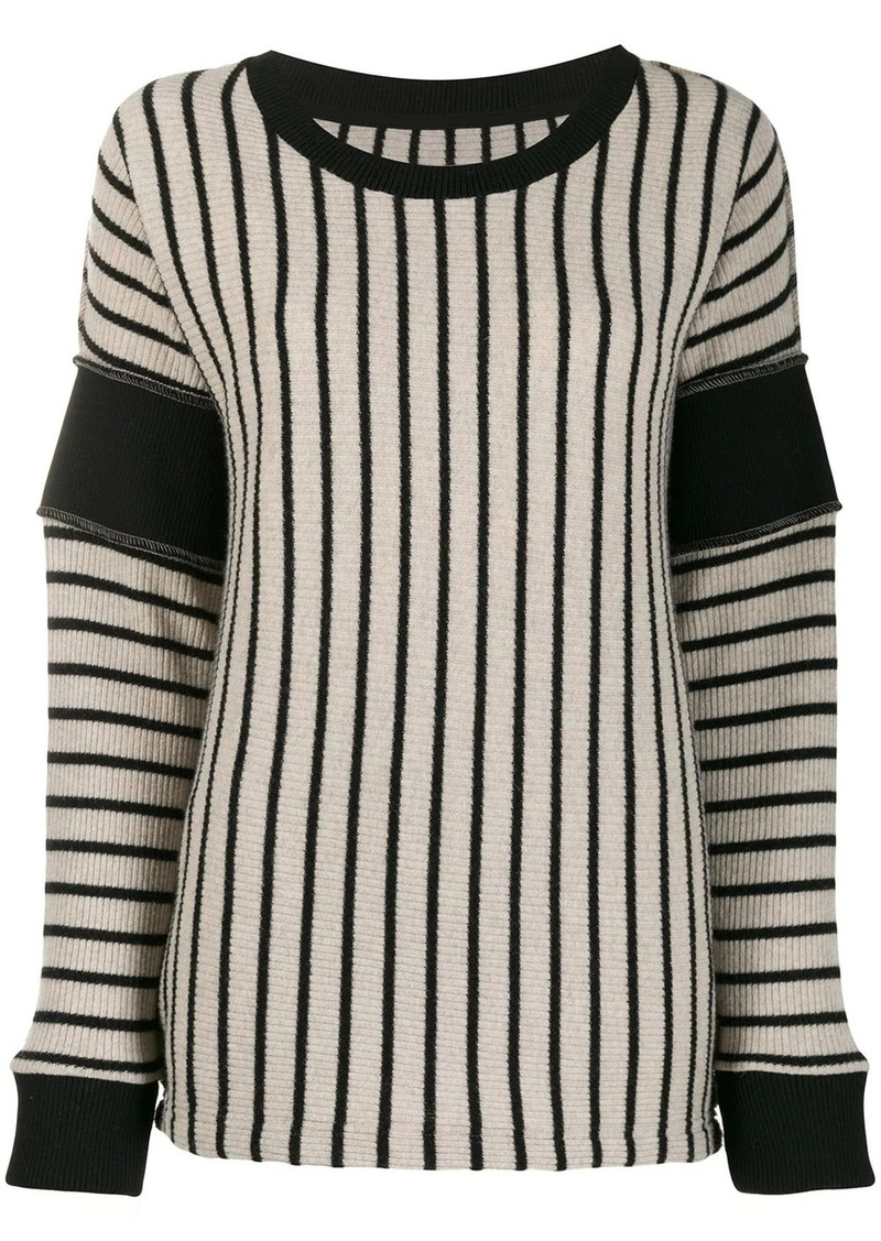 Maison Margiela contrast panels striped jumper