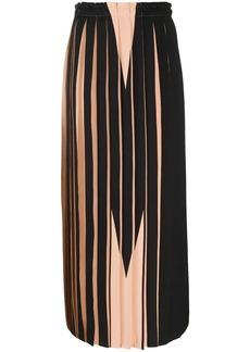 Maison Margiela contrast pleated skirt