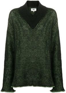 Maison Margiela contrast ribbed knit sweater