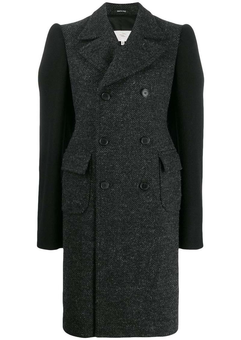 Maison Margiela contrast sleeves coat
