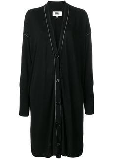 Maison Margiela contrast stitch cardi-coat