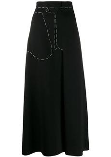 Maison Margiela contrast stitch maxi skirt