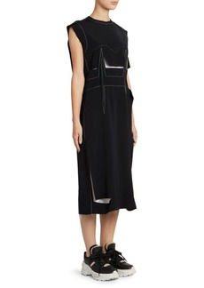 Maison Margiela Contrast Stitch Pattern Dress