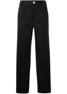 Maison Margiela contrast stitch wide trousers