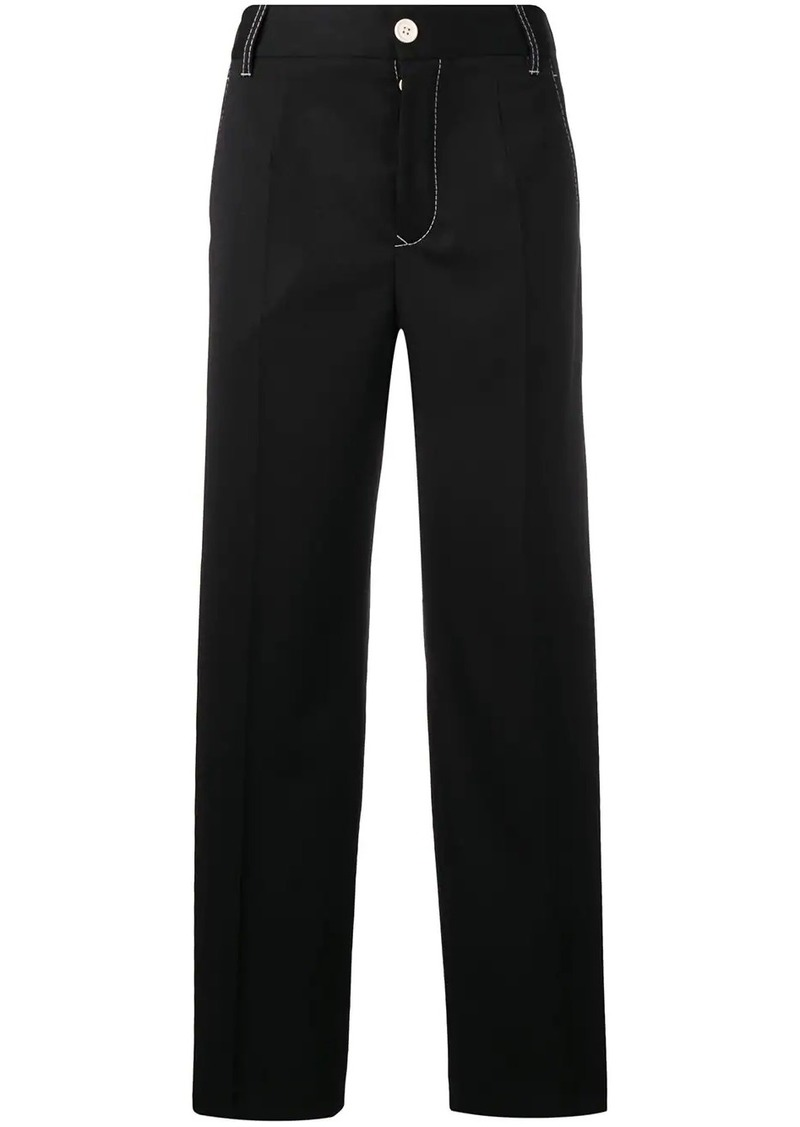 Maison Margiela contrast stitch wide trousers