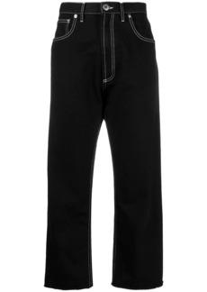 Maison Margiela contrast stitching cropped jeans