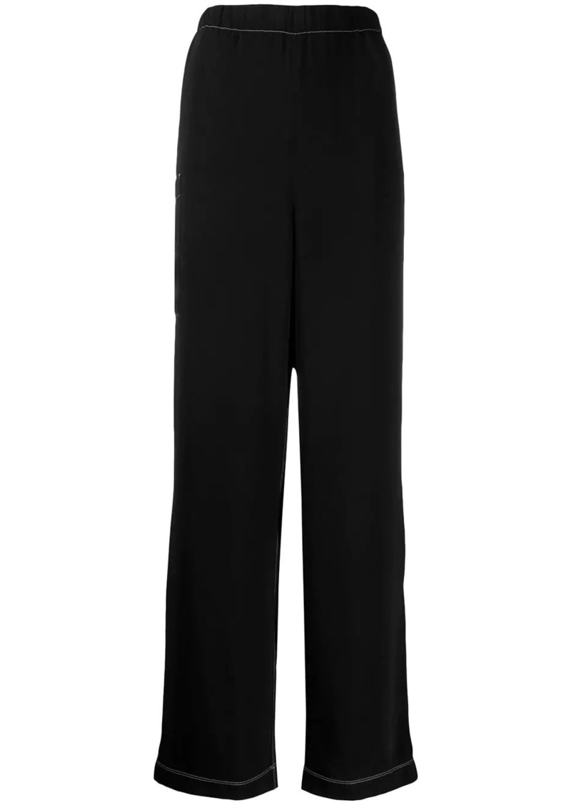 Maison Margiela contrast stitching trousers