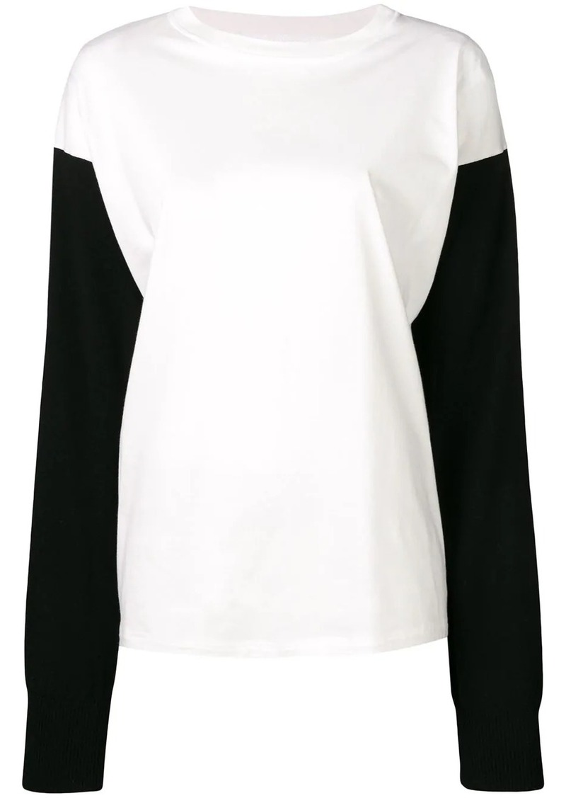Maison Margiela contrasting sleeves sweater