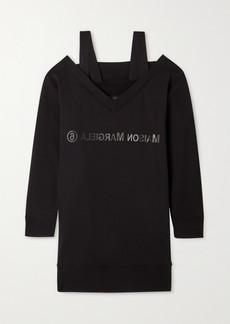 Maison Margiela Convertible Printed Cotton-jersey Dress