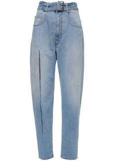 Maison Margiela Cotton Denim Wide Leg Jeans