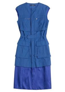 Maison Margiela Cotton-Linen Cargo Dress