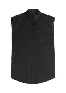 Maison Margiela Cotton Voile Sleeveless Shirt