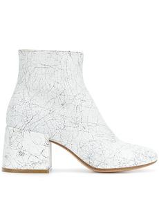 Maison Margiela crackle effect ankle boots