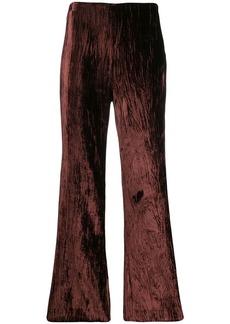 Maison Margiela creased velvet flared trousers