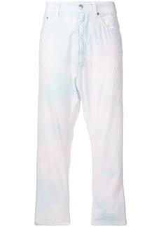 Maison Margiela cropped batik trousers