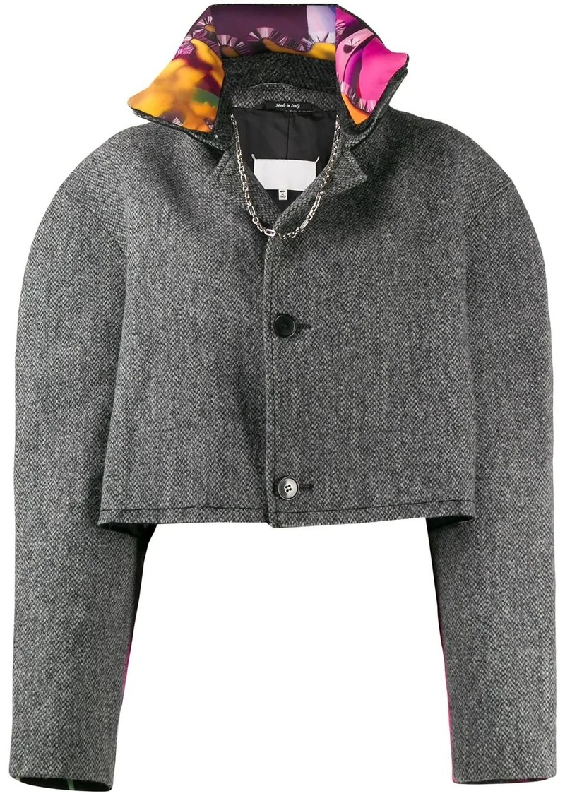 Maison Margiela cropped button-front jacket