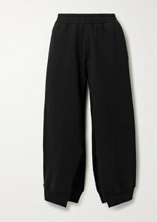 Maison Margiela Cropped Cotton-jersey Track Pants