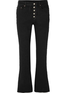 Maison Margiela Cropped Distressed High-rise Flared Jeans