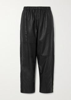 Maison Margiela Cropped Faux Leather Straight-leg Pants