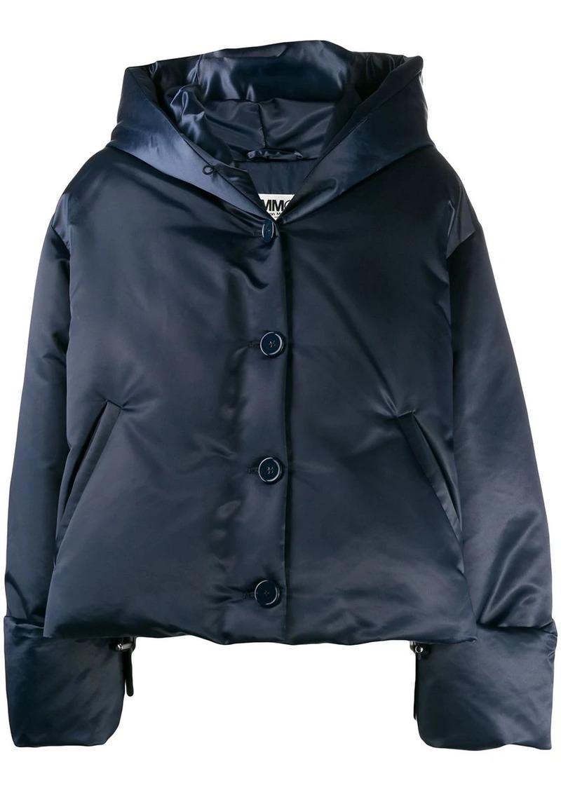 Maison Margiela cropped padded hood jacket