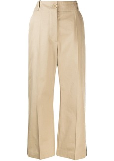 Maison Margiela cropped side stripe trousers