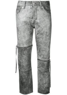 Maison Margiela cropped slim-fit trousers