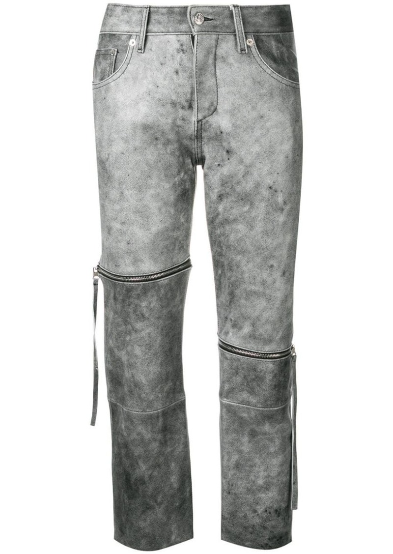 Maison Margiela cropped slim-fit trousers