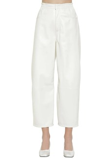Maison Margiela Cropped Straight Leather Pants