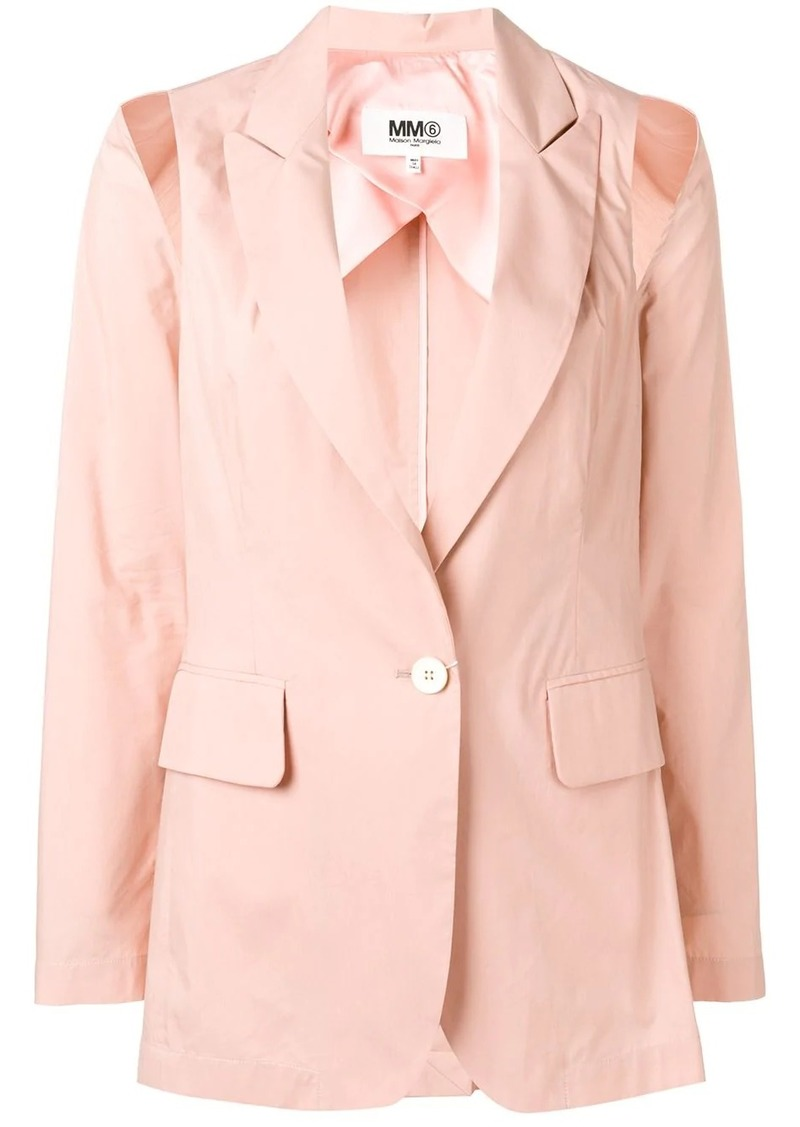 Maison Margiela cut-out detail blazer