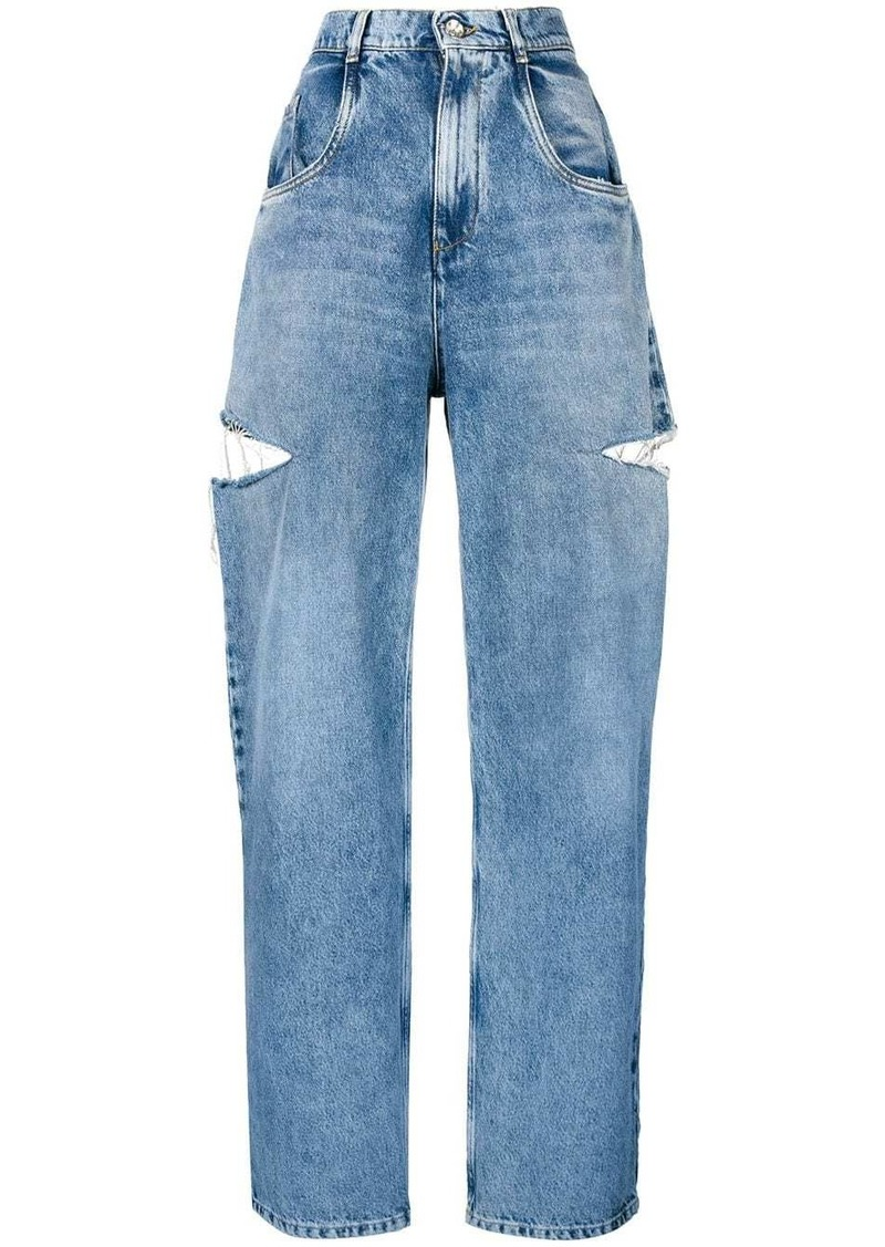 Maison Margiela cut-out detail jeans