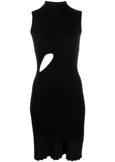 Maison Margiela cut-out detail ribbed dress