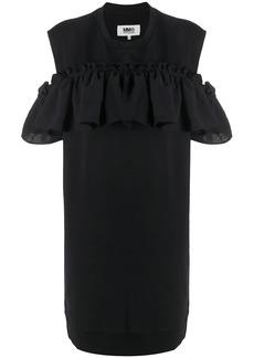 Maison Margiela cut-out ruffled short dress