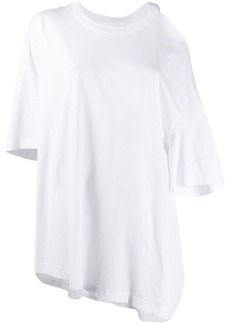 Maison Margiela cut-out shoulder asymmetric T-shirt