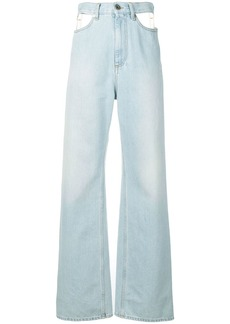 Maison Margiela cut-out wide leg jeans