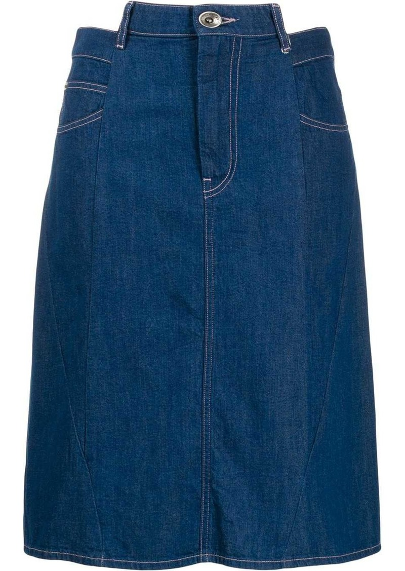 Maison Margiela Décortiqué denim skirt