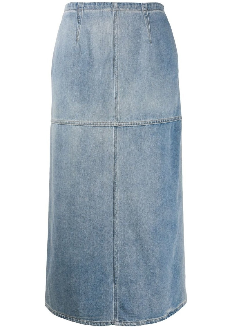Maison Margiela denim midi skirt